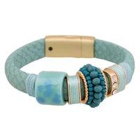 bar magnet sale - High grade Magnet Buckle Leather Bracelets Colors Hot Sale Fashion Elegant Rhinestone Bracelet