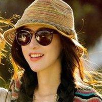 natural straw hat - Hot pepper in same hat imported natural color weaving straw hat sunbonnet hat hat summer beach hat
