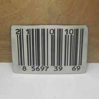 barcode metal - Fashion novelty The barcode belt buckles metal west cowboy brand DIY wild fashion men black silver belt buckle Turbo Nos