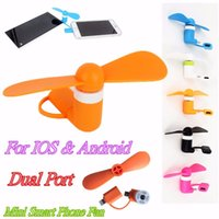 Wholesale Mini Portable USB Micro USB mobile Fan Fans For Samsung Universal Android Phone Fan For iPhone s Plus s summer Must prepare