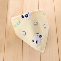 baby comfort feeding - 1 Pc Baby Bibs Cotton Bandanas Cute Comfort Cartoon Panda Scarfs Kids Feeding Accessories Newborns Burp Cloths Infant Towels