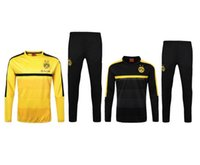 Wholesale 2016 New Season Dortmund Long Sleeve Training Wear And Tracksuit Low Collar Colour Yellow And Black