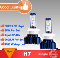 Wholesale Newest H4 H7 H11 H13 H1 LED Car Headlight High Low W LM White K Repalcement Car Styling blue Color Unique Style Headlight CREE F6