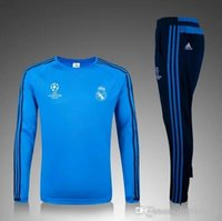Wholesale hot selling real madrid tracksuit chandal Survetement football Tracksuit training suit skinny pants Sportswear best quality