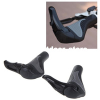 Wholesale Black Bicycle Mountain Bike Handlebar Grips MTB Ergonomic Pair Ergon Bar End Handlebar Grips H10287