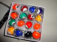 Wholesale DHL Fedex Pool Billiard snooker table ball keychain keyring