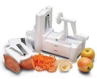 Wholesale set Multi Manual Spiral Vegetable Fruit Slicer