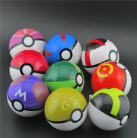 Wholesale 7cm Cute Pokémon Poke Ball Colour Pokeball Mini Model Classic Anime Pikachu Super Master Pokémon Ball Action Figures Toys B001