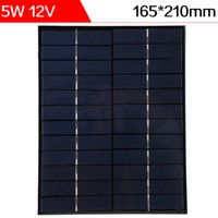 ELEGEEK 5W 12V 165 * 210 * 3mm Resina de epoxi del silicio policristalino encapsuló la célula solar para la prueba de DIY y el uso de la educación