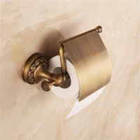 Wholesale Antique Brass Toilet Paper Holder Roll Tissue Bracket Wall Mounted Bathroom Accessories