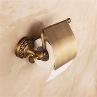 antique brass brackets - Antique Brass Toilet Paper Holder Roll Tissue Bracket Wall Mounted Bathroom Accessories