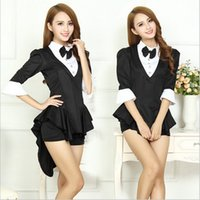 bar outfits - In Year The Magician Nightclubs Uniform Bar The Spandex Fabric Hollow out Costume Female Jazz Black Tuxedo Stage Outfit B