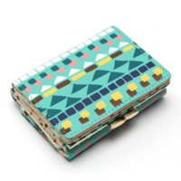 achat en gros de petits clips bon marché-Coréenne Hit Color Lattice Small Clip Lady Brevet Paragraph Purse Ladies Wallet Femme Marque Cheap wallet business