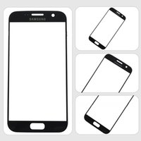Wholesale For samsung S7 Gold Blue black White Replacement LCD Front Touch Screen Glass Outer Lens for Samsung S7 DHL Free SNP021