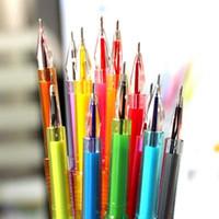 Wholesale Fashion Stationery Cute Colored Watercolor Pens New Diamond Head mm Gel Pen School Office Gel Pen Kid Gifts Colors