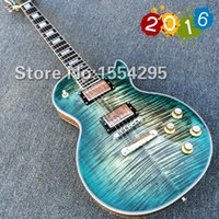 Wholesale NEW Arrival LP Custom Electric Guitar Head and body with Flame Maple top amp Retail