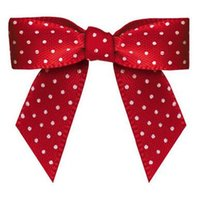 Wholesale 600pcs Pre red colour satin Ribbon Gift Package Bow with Twist Tie DHL