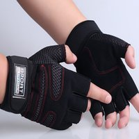 bicycle weight training - 2016 Men s Gloves Body building semi finger outdoor riding fighting weight lifting training non slip breathable bicycle sports gloves