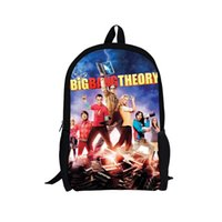 big bag theory - The Big Bang Theory Comedy Scene Printing Women Travel Backpack Men s Outdoor Bag Pack Kids Shoulder School Bags for Child Free