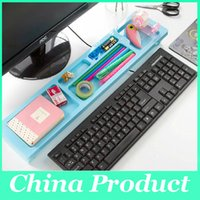 Wholesale New Creative computer desktop keyboard province space arrangement Multi functional office storage rack shelf free DHL