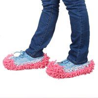 Wholesale Dust Mop Slipper House Cleaner Lazy Floor Dusting Cleaning Foot Shoe Cover