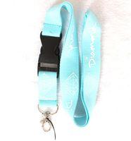 apple logo keychain - blue lanlyard Diamond Logo Sport Neck Lanyard For Key Mp3 Keychain Camera ID Badge Mobile Phone Neck Strap