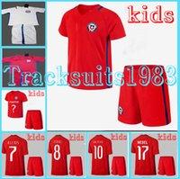 america season - Chile Kids Jerseys child teens Shirt ALEXIS A SANCHEZ VALDIVIA VARGAS SUAZO A VIDAL America Cup Season rugby
