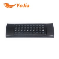 Wholesale 2 GHz Remote Controller Wireless in1 MX3 Air Mouse Fly Mouse QWERTY Keyboard GYRO Sensing Remote IR Learning for Android TV Computers