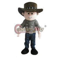 Wholesale Cowboy Mascot Cartoon Mascot Costume Custom Made For Birthday Halloween Party