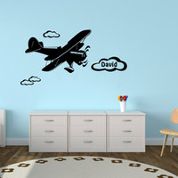 art clouds - Personalized Custom Boys Name Decals Plane Clouds Wall Decor Sticker