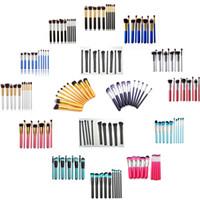 Wholesale 2016 new Kabuki Makeup Brushes styles Professional Cosmetic Brush set Kit Nylon Hair Wood Handle Eyeshadow Foundation Tools