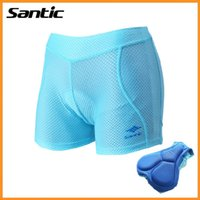 Wholesale Santic Paded Cycling Underwear Women Quick Dry Bike Cycling Shorts Gel Pad Outdoor Sport Bicycle Bike Underwear Bermuda Ciclismo