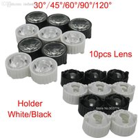 Wholesale Led Lens Degree for diy w w Aquarium grow led light Black White Holder Plano Lens Reflectors