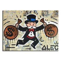 art paintings ideas - Alec monopoly double pack idea huge new Graffiti art print on canvas for wall picture decor oil painting in living room no frame