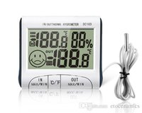 Wholesale Temperature Humidity LCD Digital Thermometer Hygrometer Meter w Wired External Sensor Electronic New DC103 H302008