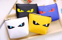 bags eye - NEW Fashion High quality Peekaboo monster eye coin purse canvas key holder wallet hasp small gifts bag clutch handbag