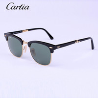Glass retro style sunglasses - carfia folding sunglasses men combine unmistakable retro style with a new functional design mm half frame sun glasses