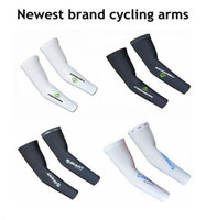 Wholesale Newest logo mountain bike arm sleeve cycling arm warmers basketball arm sleeve manguito bike accessories uv arm protection