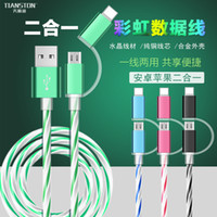 Wholesale 2 in micro usb date line charger for samsung galaxy xiaomi iphone huawei samsung android IOS m mobile phones