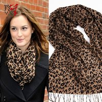animal print gift wrap - Neckerchief Scarf Scarfs For Women Wool Scarf Shawls Winter Pashmina Hot Brand Scarves Wraps Stoles Fashion Scarf Gift Leopard Print Scarf