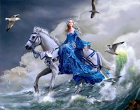 angels art prints - ART HD print painting on canvas Angels White Horse