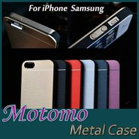 For Apple iPhone aluminium iphone cases - Motomo Thin Metal Aluminium Alloy Hard PC Case With logo For iPhone S Plus S Samsung S7 S6 Edge Note Free Ship MOQ