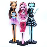 Wholesale NO BOX Dolls Monster Draculaura Clawdeen Wolf Frankie Stein Moveable Joint Body High Quality Girls Plastic Classic Toys Gifts