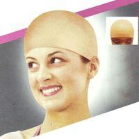 Wholesale New Unisex Nylon Bald Wig Hair Cap Stocking Liner Snood Mesh Stretch Nude Beige