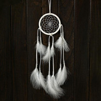 alloy hallway - Fashion Charms White Handmade Dreamcatcher Net Feather Pendant Hanging Decoration Ornament For Home Car Office Shop