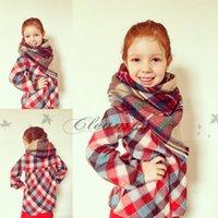 Wholesale Children Plaid Scarf Girl blanket scarf Kid Blanket Scarf Child s Tartan Scarf Christmas Scarf Gift Ideas M466