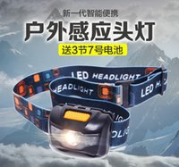 Wholesale Mini Headlight Bright Head Light Leds Frontal Lampe Torch Camping Head Lamp Headlamp By Aaa Battery