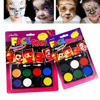 adult body paint - Halloween Christmas Body Paint Face Painting Platte Halloween Carnival Party Makeup For Children Kids Adults Colors Colors