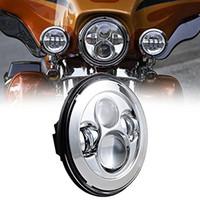 achat en gros de projecteurs pour phares dhi-DOT approuvé 7 pouces noir / Chrome Projecteur Daymaker HID LED Ampoule Phare Harley Chopper Bob