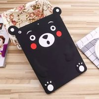 bear skin air - Fashion Cute Cartoon Kumamoto Bear Tablet Cases Silicone Rubber Soft Back Cover for ipad ipad mini air air2